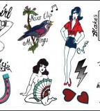 Amy Winehouse Temporary Tattoo Design  (NSFW)