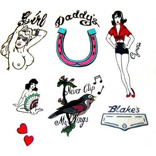 Amy Winehouse Fancy Dress Tattoos Set (NSFW)