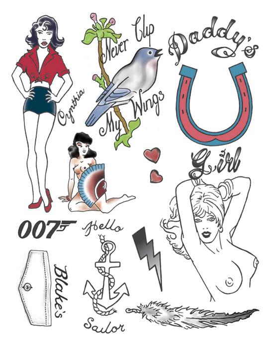 Amy Winehouse Tattoo Set (NSFW)
