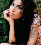 Amy Winehouse Girl Tattoo Design on Arm NSFW