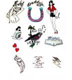 Amy Winehouse Fancy Dress Tattoos Deluxe Set (NSFW)