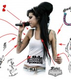 Amy Winehouse Set Of 10 Deluxe Temporary Tattoos  (NSFW)