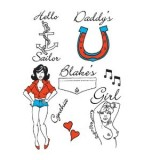 Pop Star  Amy Winehouse Style Temporary Tattoos Set (NSFW)