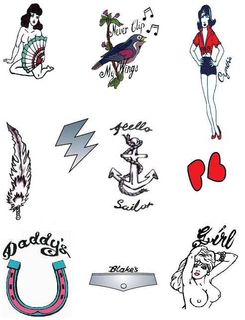Long Lasting and Cool Temporary Tattoos Amy Winehouse (NSFW)