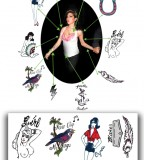 Temporary Tattoos Amy Winehouse Set Full Size  (NSFW)
