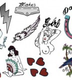 Simple Temporary Tattoo Collection from Amy Winehouse (NSFW)