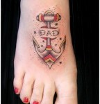 Beautiful Girls Anchor Themed Design on Foot