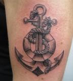 Impressive Girls Anchor Themed Tattoo Design