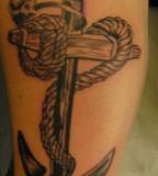 Beautiful Nautical Anchor Themed Girls Tattoo Design