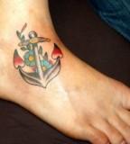 Nice Design of Girls Anchor Tattoo Design Photo