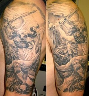 Angel Tatoos Design on Arm For Men