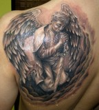 Trendy And Funky Angel Tattoos for Men