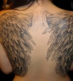 Angel Tattoos With Wings for Women