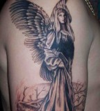 Amazing Angel Tattoo Design for Men