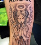 Cute Angel Tattoos Design on Arm