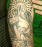 Angel Tattoo Design on Arm for Men