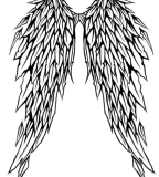 Angel Wing Tattoo Design Sample