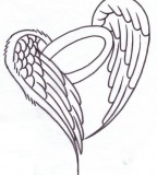 Heart Angel Wings Tattoos