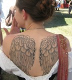 Back Angel Wings Tattoo For Girls