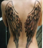 Fantastic Angel Wings Tattooon Woman's Back