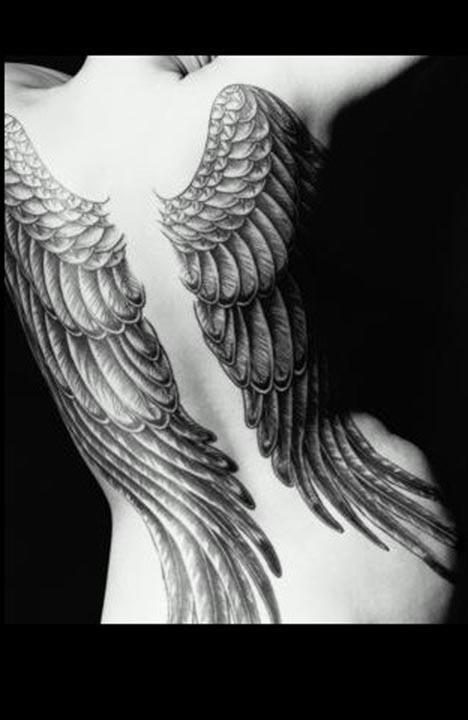Freedom Wing Back Tattoo for Women