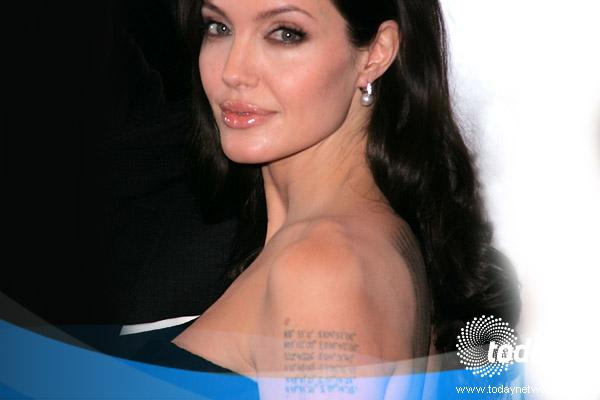 Angelina Jolie Wanted Back Tattoo
