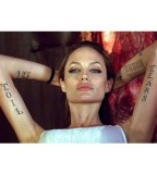Angelina Jolie Temporary Tattoos for Wanted Film