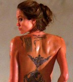 Angelina Shows Off Her New Temporary Tattoos For Wanted Rotten