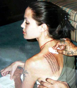 Angies Tattoo Angelina Jolie Photo