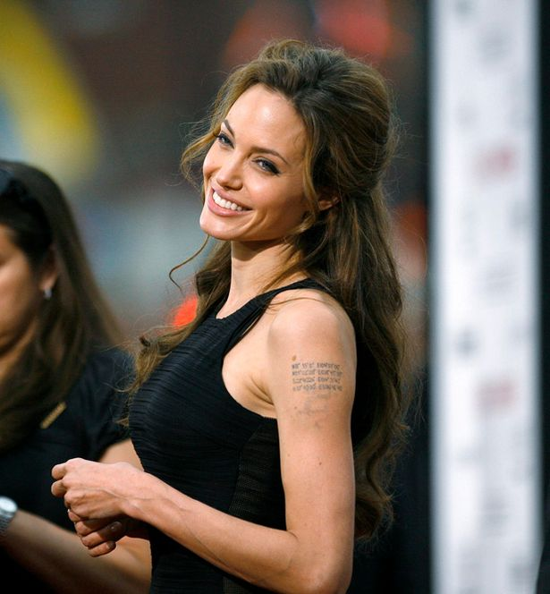 Awesome Celebrity Tattoos Angelina Jolie
