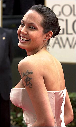 Angelina Jolie Meaningful Tattoos