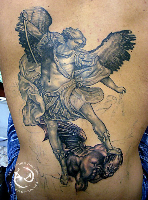 Arm Angel And Demon Tattoo War Ideas