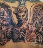 Angels And Demons Back Piece Tattoo Sitting A Photo Gallery