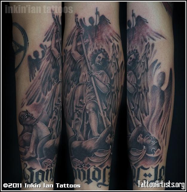 Amazing Group Angels Vs Demons Tattoo Artists