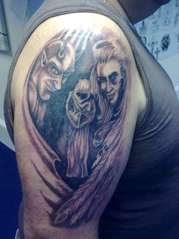 Beautiful Examples Of Designs Angel And Demon Tattoo