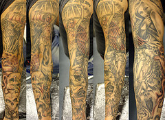 Groups Angels and Demon Sleeve Tattoo Pictures