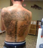 Angel and Demon Tattoo Back Tattoo Pictures For Man