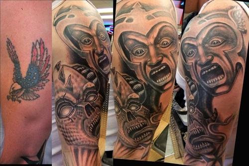 Simple Design Monkeyproinks Tattoo Demon Picture