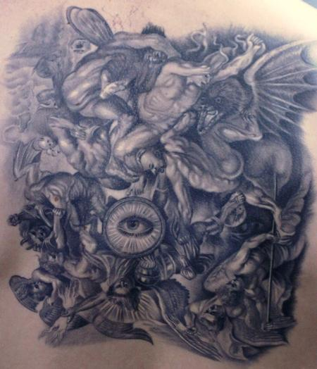 Paradise Tattoos Religious Devil Angels Pictures