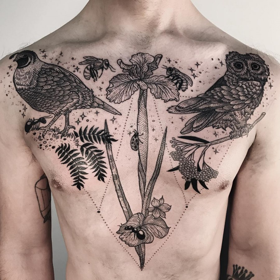 animal-chest-tattoo-by-freeorgy