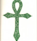 Green Ankh Tattoo Image