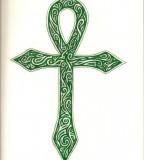 Green Ankh Tattoo Image