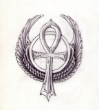 Wing Ankh Tattoo Ideas
