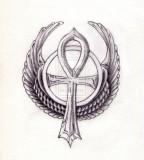 Wing Ankh Tattoo Ideas