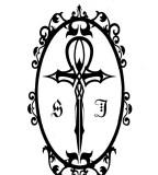 Framed Black - White Ankh Tattoo Ideas