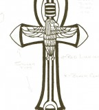 Graphite Knight Ankh Tattoo