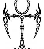 Tribal Ankh Temporary Tattoo Ideas