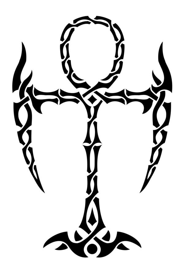 Tribal Ankh Temporary Tattoo Ideas