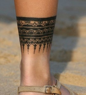 ankle tribal tattoo