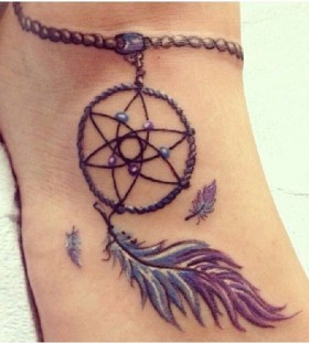 anklet dremacatcher tattoos for women